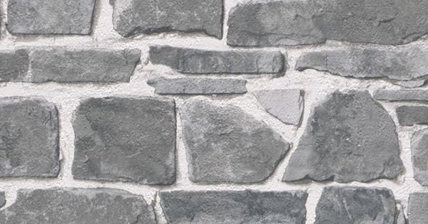 Papel pintado imitaci n piedra gris pdd521265620 papel for Papel pintado imitacion ladrillo barato
