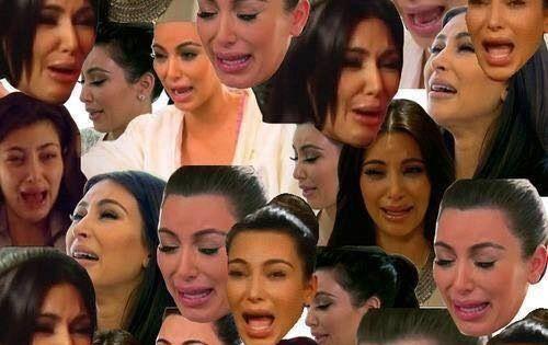 Collage of kim 39 s ugly crying face hahahaha - Kim kardashian crying collage ...