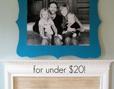 DIY - huge framed photo for less than $20. 3'x4' engineer print