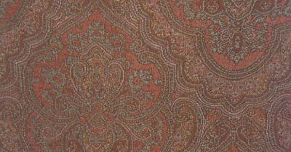 Kravet Persian Paisley Tapestry Color Burnt Amber Multi Fabric Remnant Ebay Fabric Remnants Tapestry Fabric