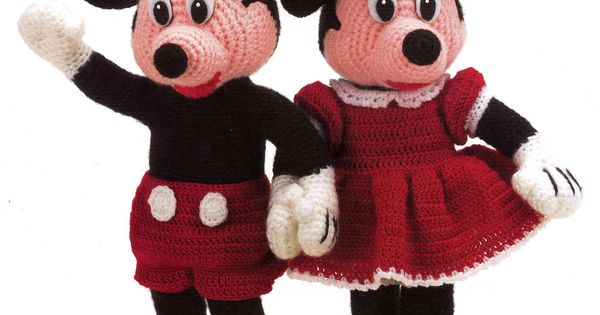 Crochet Mickey and Minnie Mouse. knitting and crocheting Pinterest Patt...