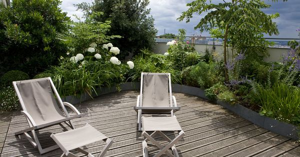 Une terrasse paris balcon jardin suspendu pinterest terrasses chirac et paris - Terrasse jardin suspendu montreuil ...
