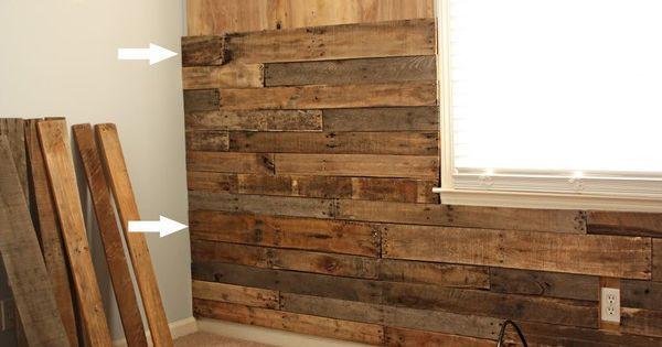 lambrissage palettes pinterest mur de bois les. Black Bedroom Furniture Sets. Home Design Ideas