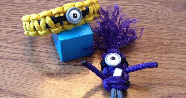 Paracord Minion Bracelet And Keychain Things I Ve Made