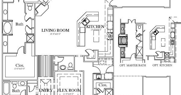 Marshall Floor Plan 2541 One Story Porte Cochere House