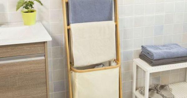 D tails sur sobuy tag re chelle salle de bain porte Echelle salle de bain inox