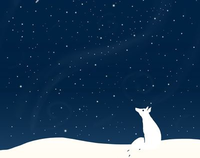~Snow fox~ illustration is so serene