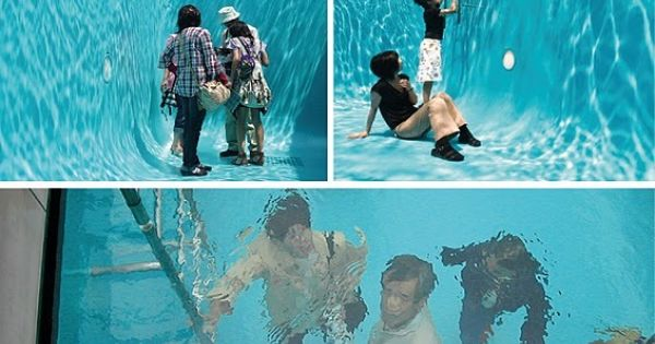 Japanese Fake Swimming Pool: The Swimming Pool was designed by Buenos Aires