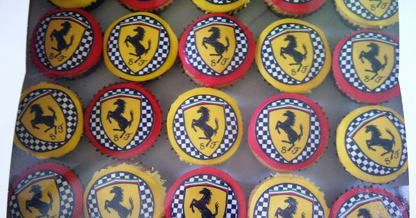 Ferrari Cupcakes Things We Love Pinterest And Birthdays