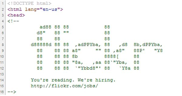 Flickr Dishes Out A Secret We Re Hiring Ad Job Ads Job