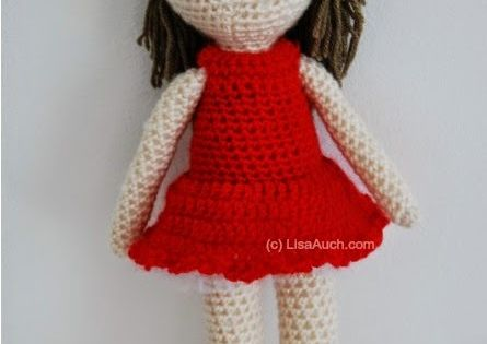 How To Crochet Amigurumi Arms : pattern for beginners - head, body, arms, legs all one ...