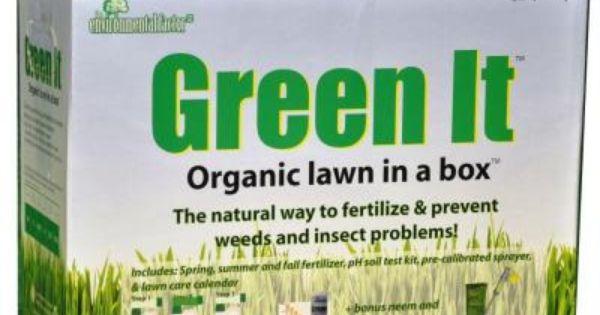 Green it organic lawn in a box liquid corn gluten for Fish fertilizer home depot