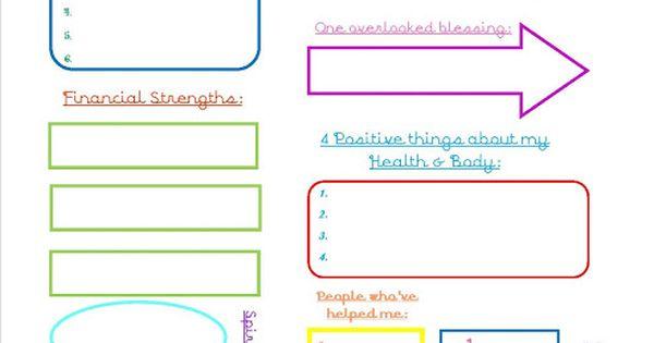 Printable self esteem worksheet