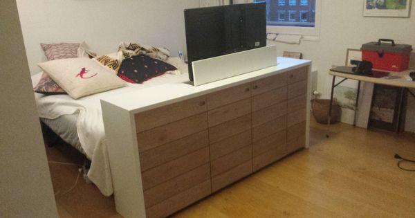 Slaapkamermeubel met tv lift ontwerp wij maken alles for Ladenblok zelf maken