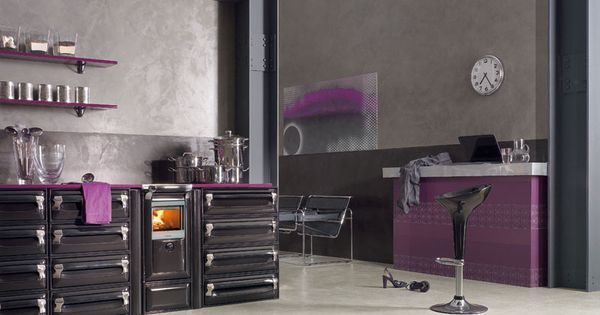 Wood burning kitchen by lacunza spain wood cook stoves for Cocina a lena con serpentin