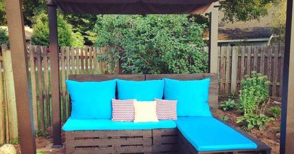Muebles de exterior con palets de todo pinterest - Muebles exterior palets ...