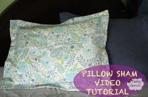 how to make a pillow sham diy tutorial giveaway youtubecheck it out also don 39 t forget to. Black Bedroom Furniture Sets. Home Design Ideas
