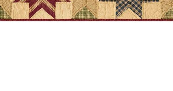 Green Star Quilt Wallpaper Border