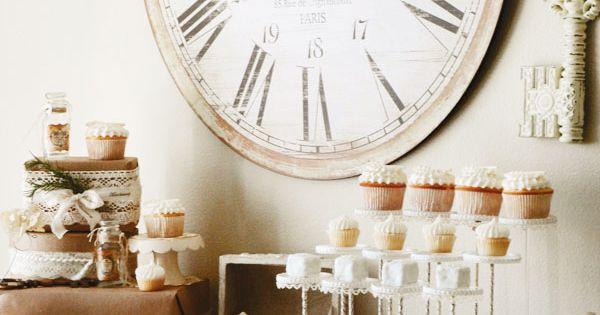 French vintage-inspired wedding dessert table weddings vintagewedding frenchwedding desserttable weddingdessert
