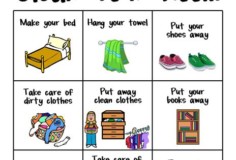 Make it easy for your pre reader to clean her room with this free printable    For the girls   Pinterest   Daily chore list  Like you and Charts. Make it easy for your pre reader to clean her room with this free