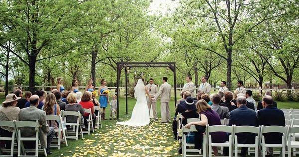 Outdoor Wedding Ceremony At The Grove In Phoenix