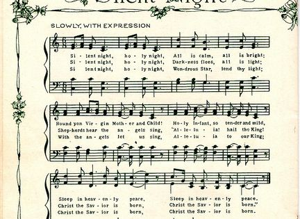 Free Christmas music sheets to download for art projects