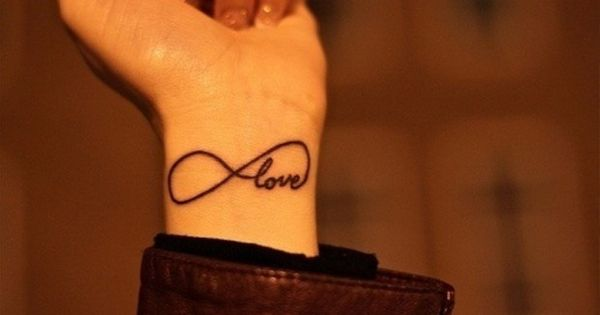 Infinity Wrist Tattoo Designs Henna: Popular Infinity Symbol Tattoo Design On Wrist
