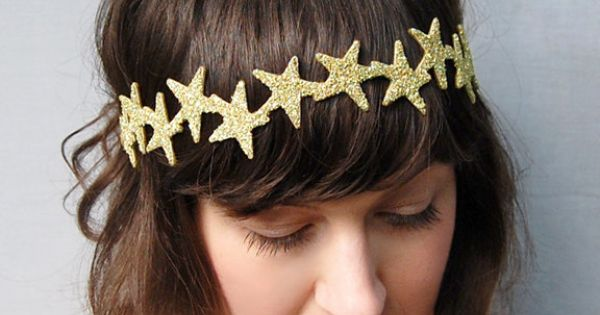 DIY Star Crown for Above & Beyond: glue gold stars to a