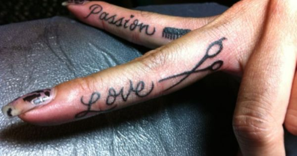Cosmetology tattoo passion love hair