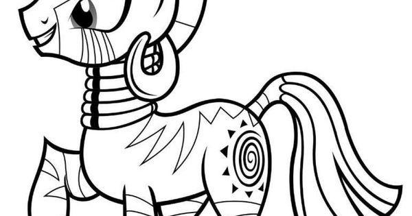 My Little Pony Zecora Coloring Pages : My little pony coloring pages zecora printables and such