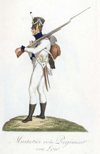 Musketeer Low Regiment The Saxon Army In 1810 The Uniform
