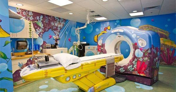 A Quot Yellow Submarine Quot Mri Machine At Children 39 S National Medical Children Hospital Design Hospital Design Hospital Interior Design
