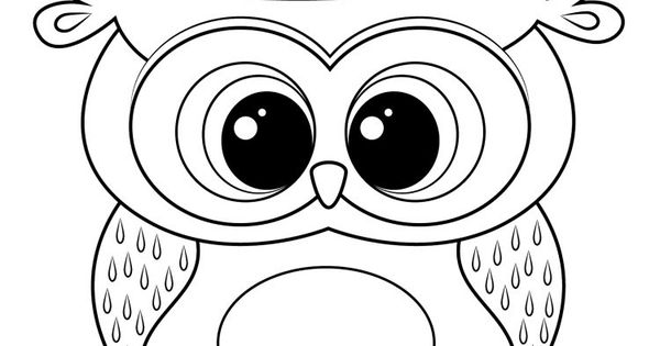 Dessin hibou imprimer et bricolage chouette pour enfants dessin hibou cercles et originaux - Dessin chouette rigolote ...