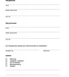 Word Vorlage Fur Die Ubergabe Eines Mobiltelefones An Einen Arbeitnehmer In 2020 Ubergabeprotokoll Vorlagen Handy