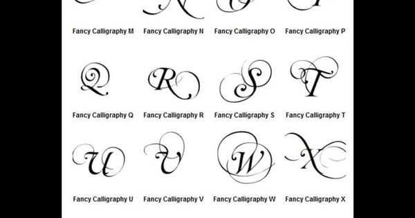 Calligraphy Alphabet Samples Graffiti Letters A Z Fancy