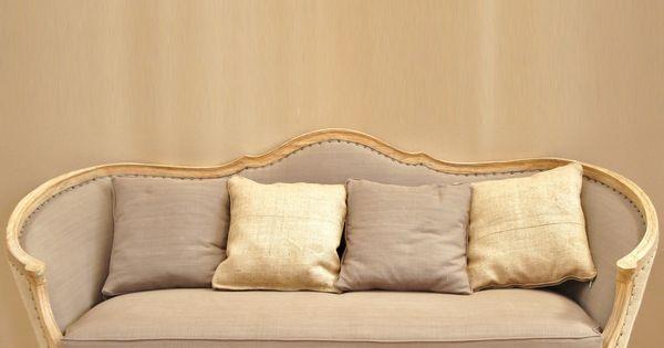 canap ottoman louis xv relook gustavien la structure est en c dre blanc massif belle. Black Bedroom Furniture Sets. Home Design Ideas