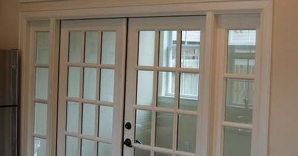 8 ft opening with french doors and transom windows for Office doors with windows