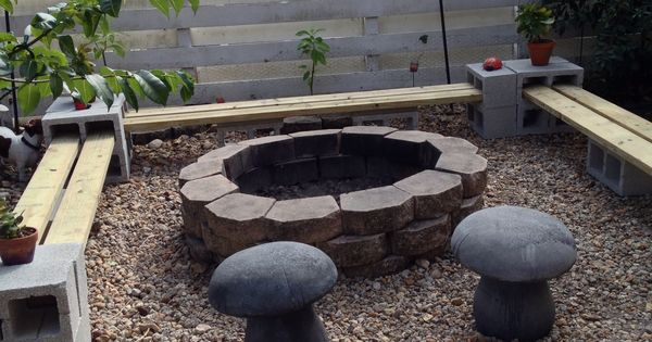 Easy To Make A Bench Around Firepit All You Need Is 24