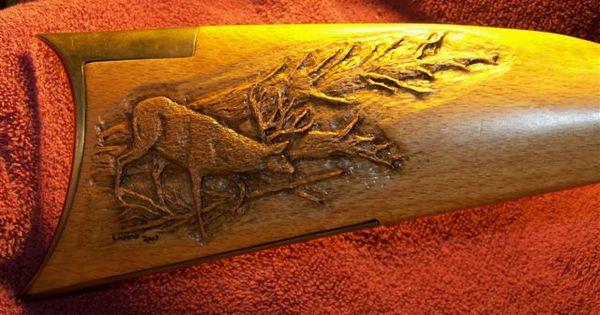 Wood gun stock carving patterns gunstock engraving