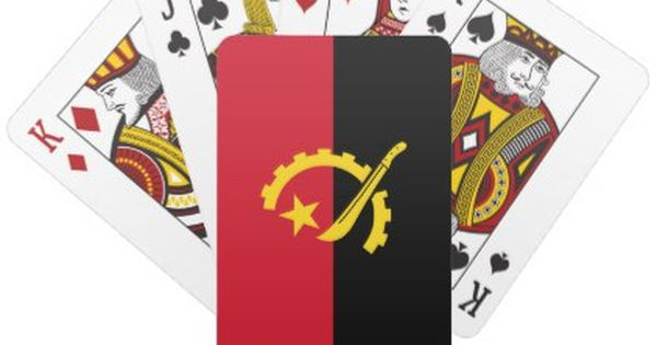 Patriotic Angolan Flag Playing Cards Zazzle Com Cards Angolan Flag Playing Cards