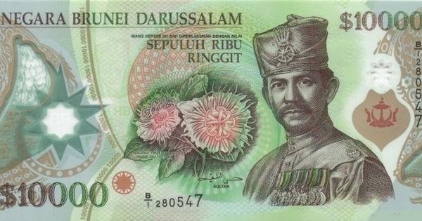 Brunei Dollar Bank Notes Currency Design Brunei