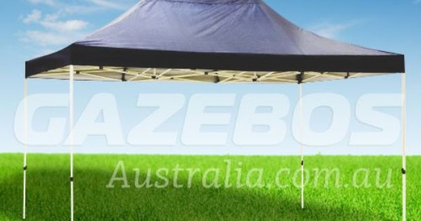 Oztrail Deluxe 4 5 Gazebo With Blue Canopy 4 5m X 3m Gazebo Canopy Portable Gazebo