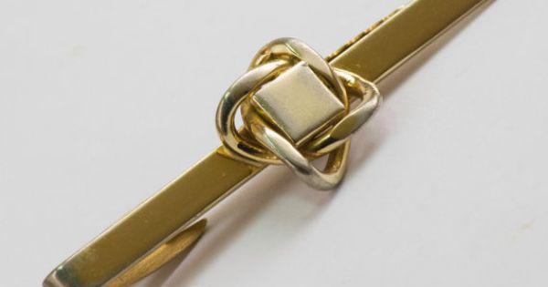 Vintage Tie Clip Large Art Deco Woven Design Tie by CuffsandClips, $14.50