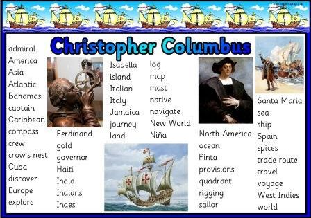 christopher columbus vocabulary  Christopher Columbus Wanted