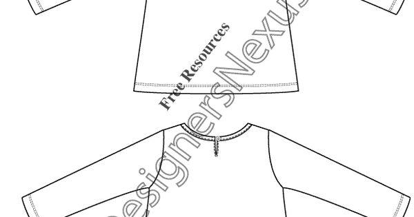 v17 long sleeve toddler kids top flat fashion sketch