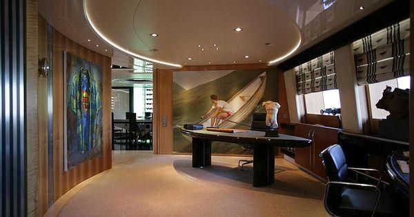 Maltese Falcon Yacht Her Main Deck Office Immediately Reverts