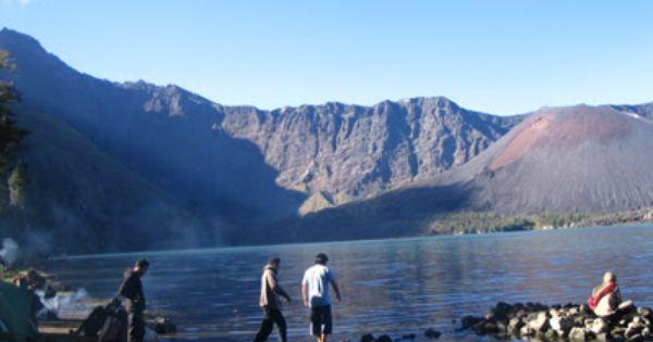 Gunung Rinjani Pulau Lombok Pulau Pemandangan