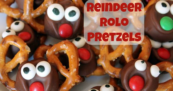 Reindeer Rolo Pretzels recipe from Reading Confetti. She also has a list