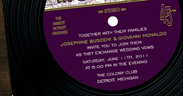 Motown Record Flat Card Invitations   Motown Party ...