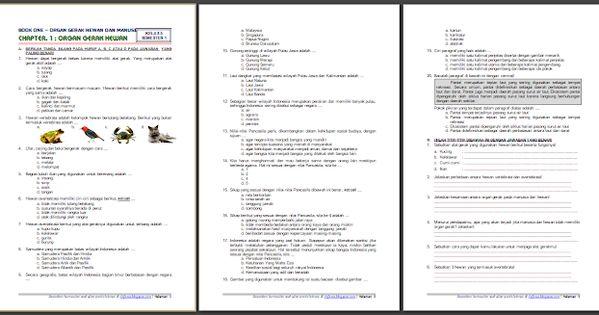 Download Soal Dan Kunci Jawaban Kelas 5 Semester 1 Tema 1 Subtema